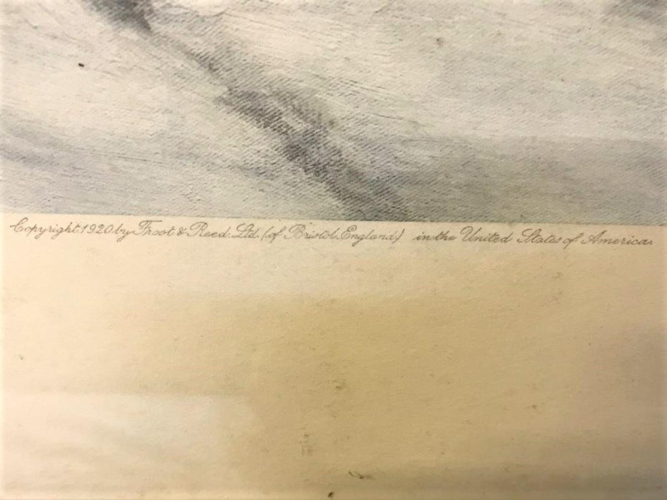 "Joseph Farquharson Print ""Through the Woodland Snow"""