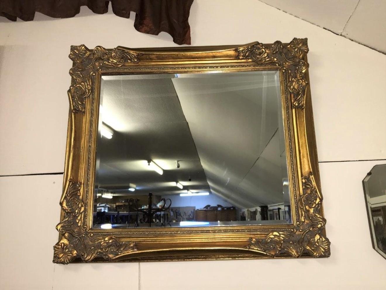 Gilt Frame Overmantle Mirror