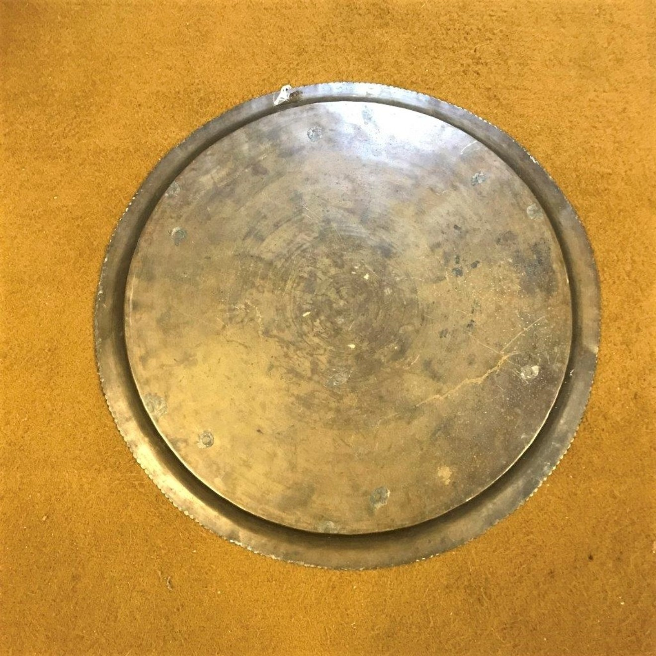 Middle Eastern Circular Engraved Brass Tray