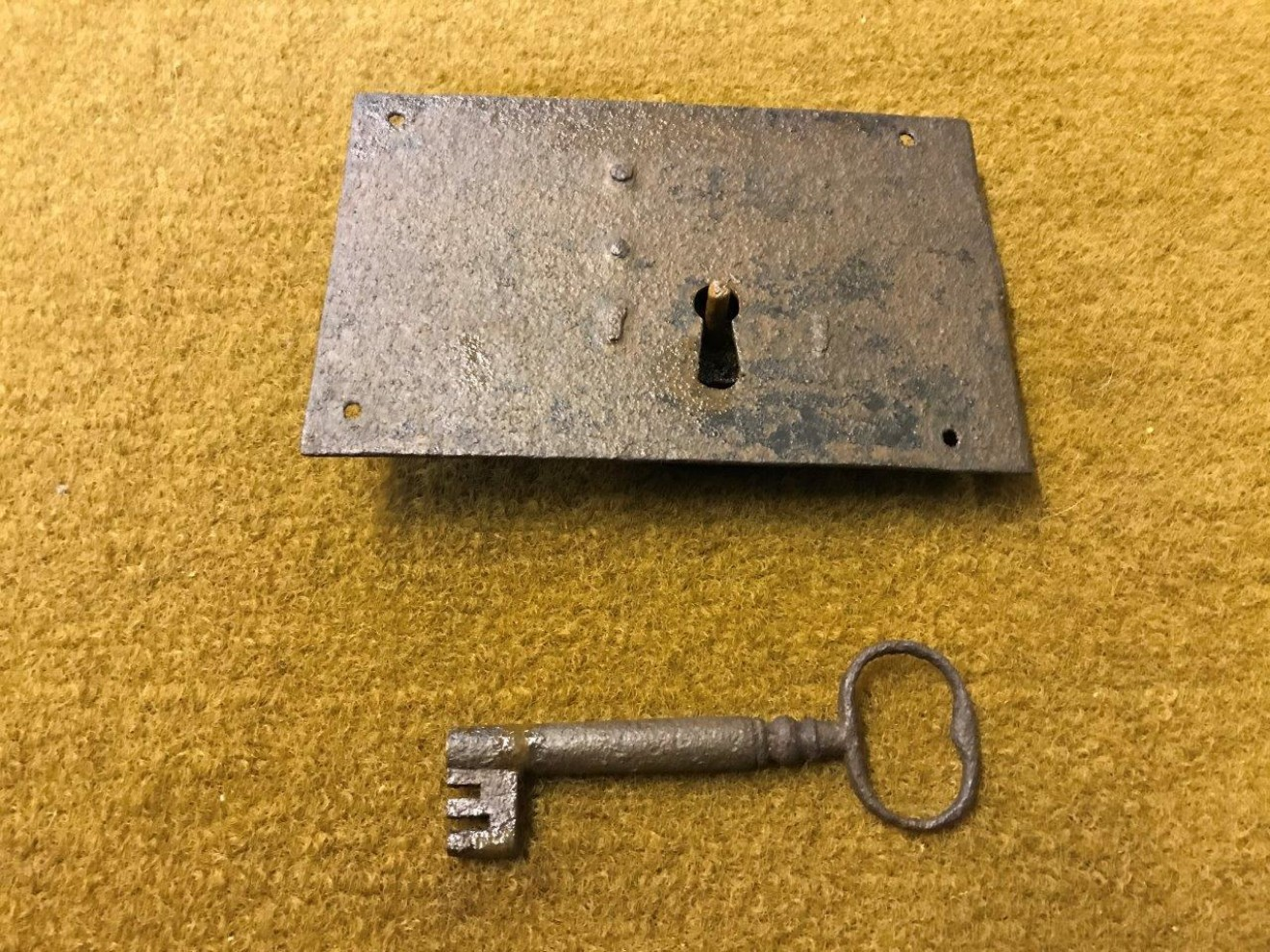 Victorian Iron Lock and Key