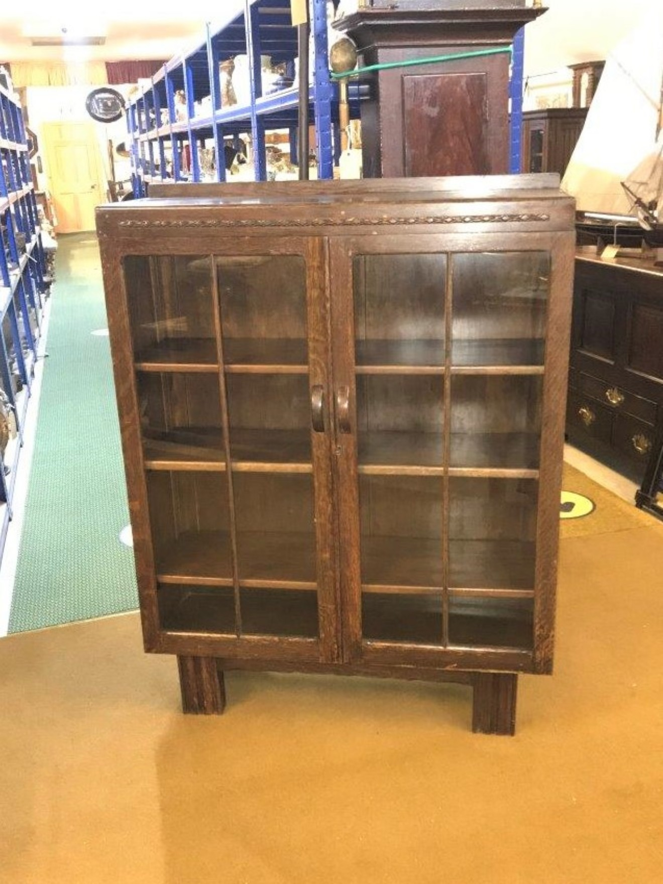 Art Deco Oak Bookcase