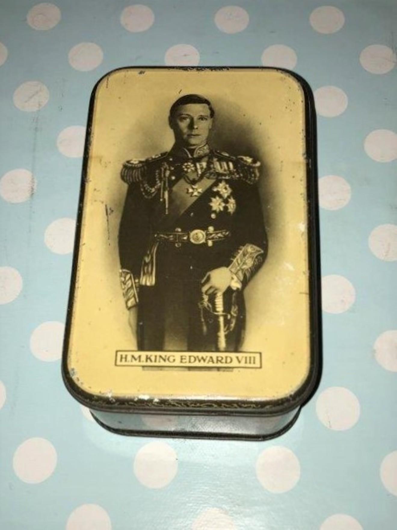 King Edward VIII Biscuit Tin