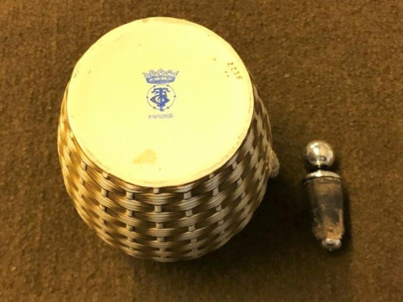 Antique Basket Weave Whisky Decanter