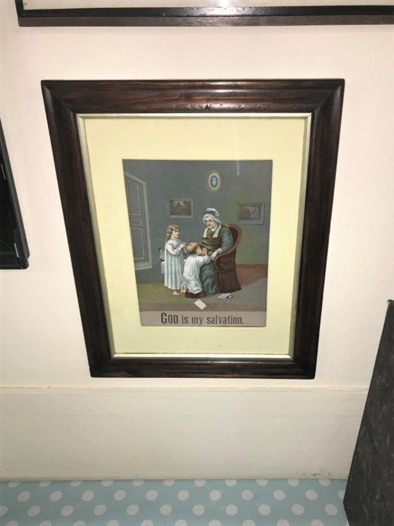 "Framed Print ""God Is My Salvation"""