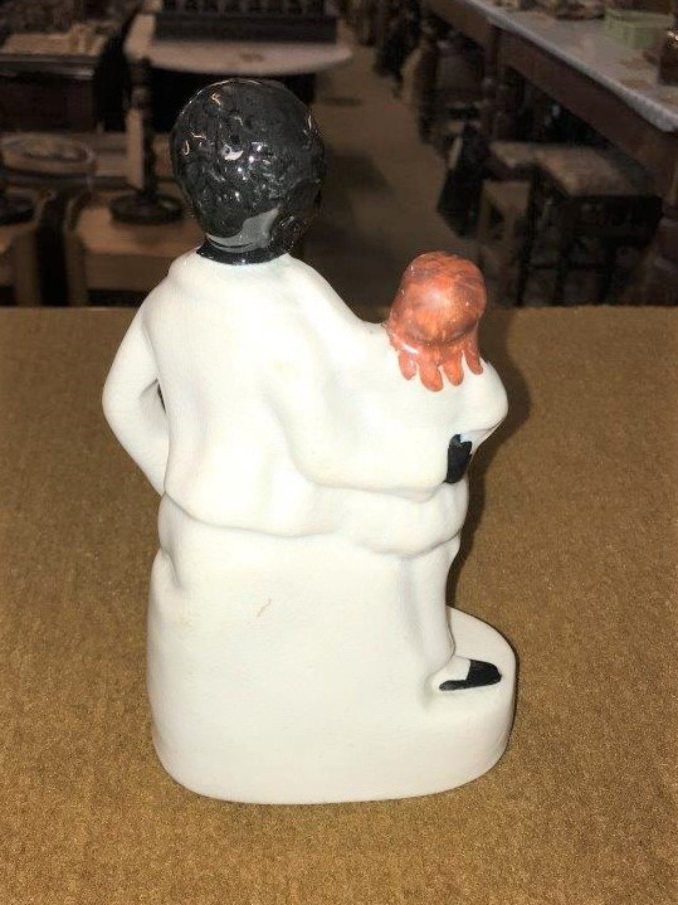 """Staffordshire Figure """"Uncle Tom and Eva"""""""