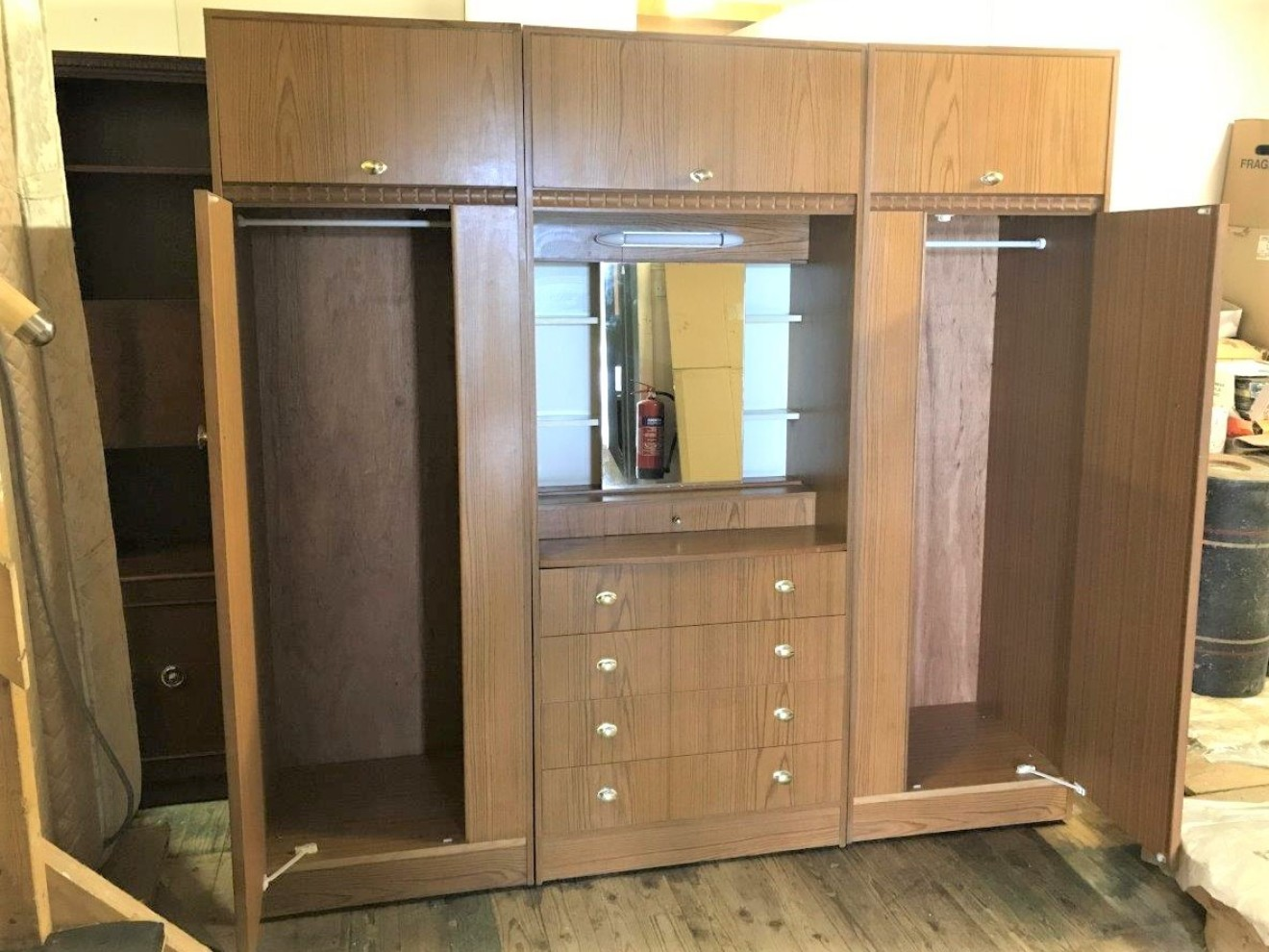 Vintage 3 Piece Wardrobe Unit