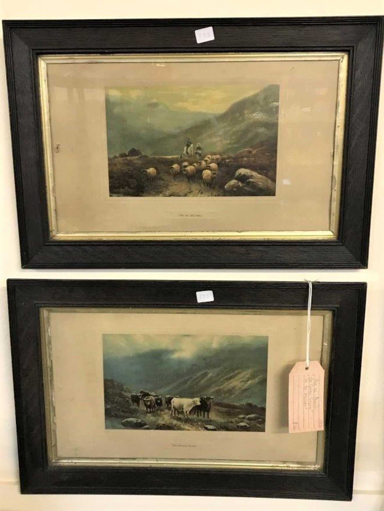 "Pair of Prints, ""The Coming Storm"" & ""On the Hillside"""
