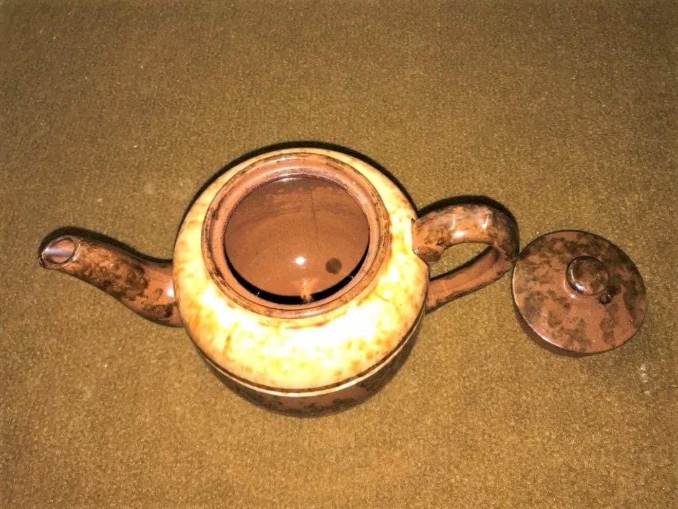 Vintage Mottled Glazed Teapot