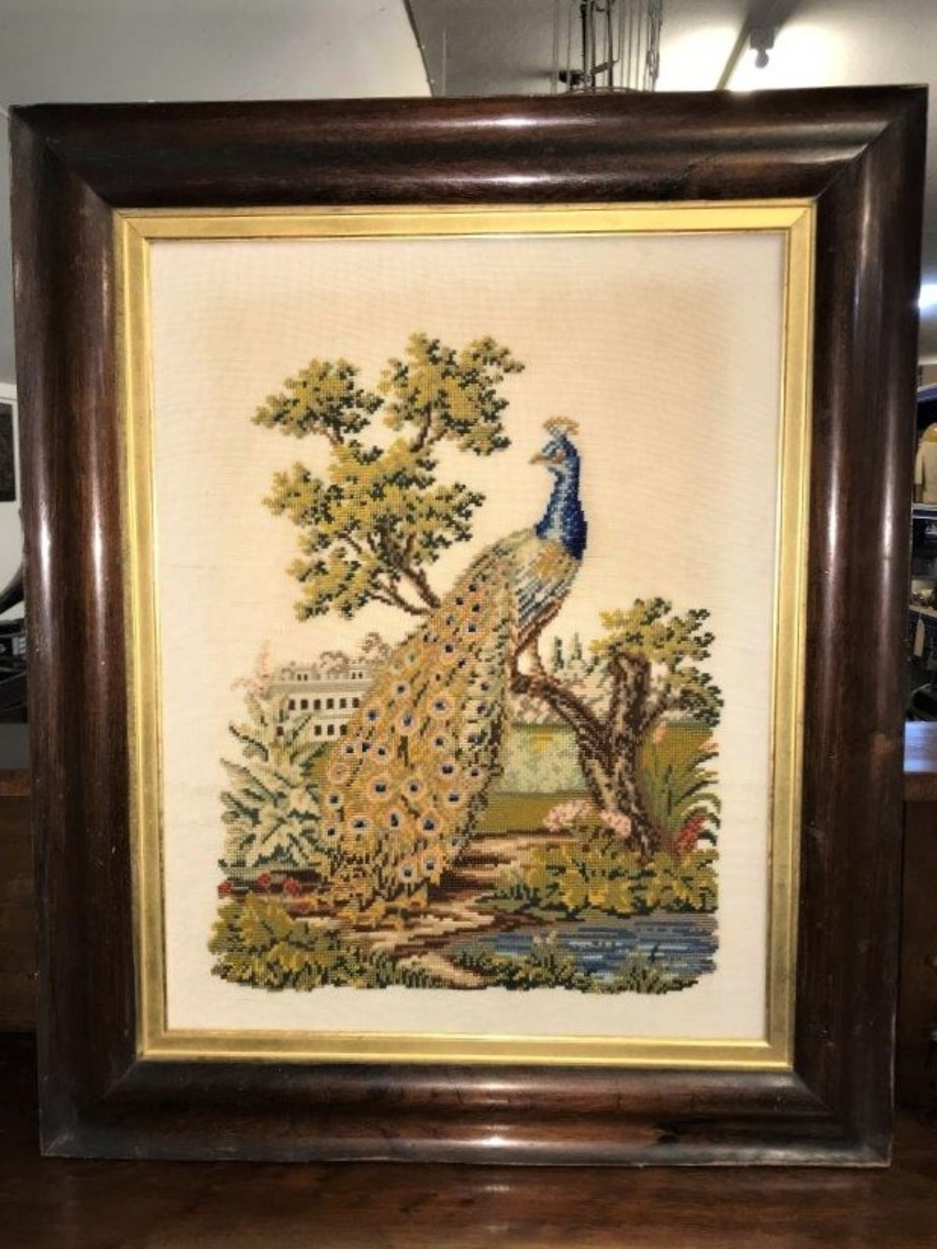 Tapestry of a Peacock
