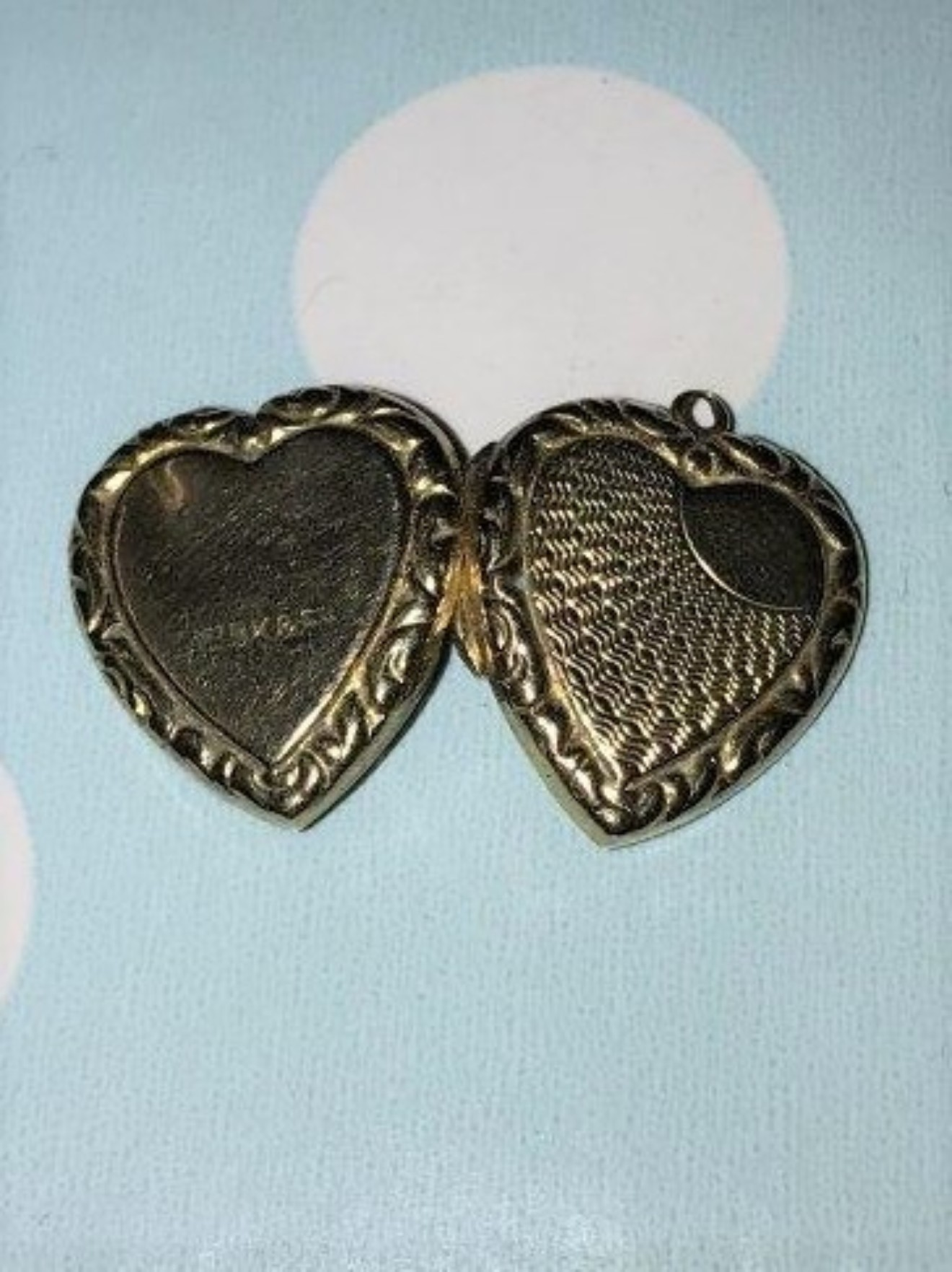 9ct Rose Gold Victorian Engraved Heart Shaped Locket
