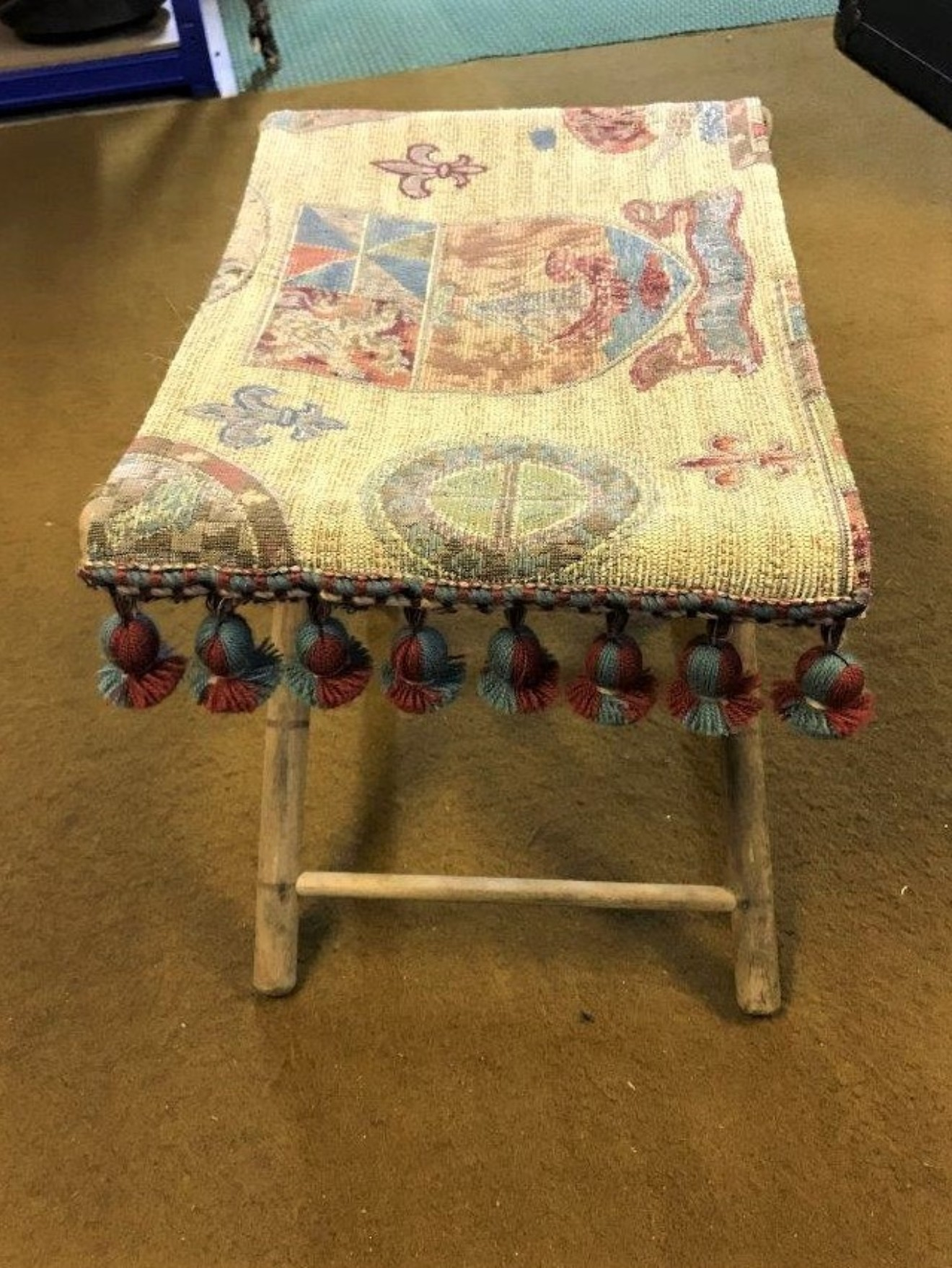 Childs Fabric Topped Folding Stool