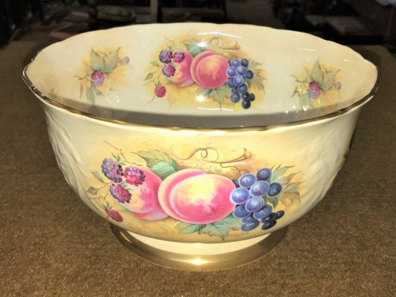 """Crown Staffordshire Bowl """"Orchard Glory"""""""