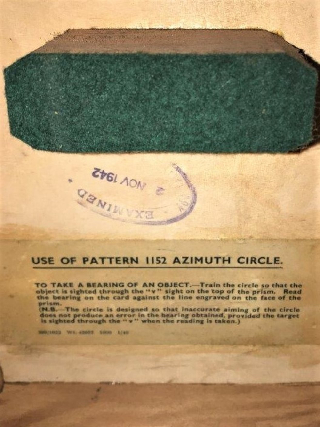 WW2 Azimuth Circle for Compass