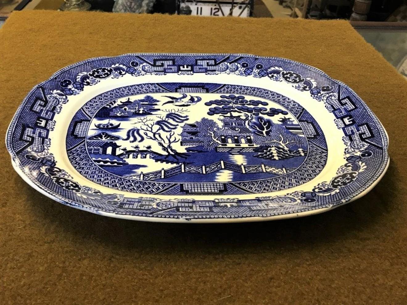 Willow Pattern Oval Platter