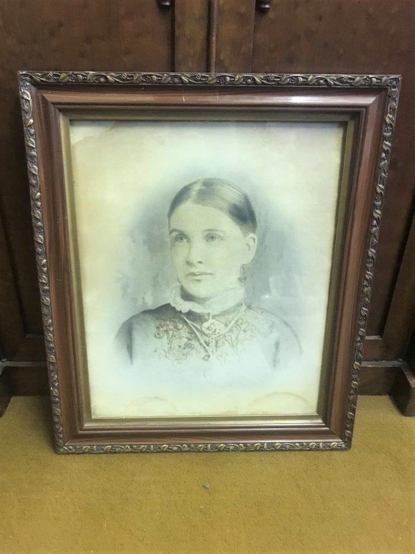 Victorian Portrait Print of a Young Woman