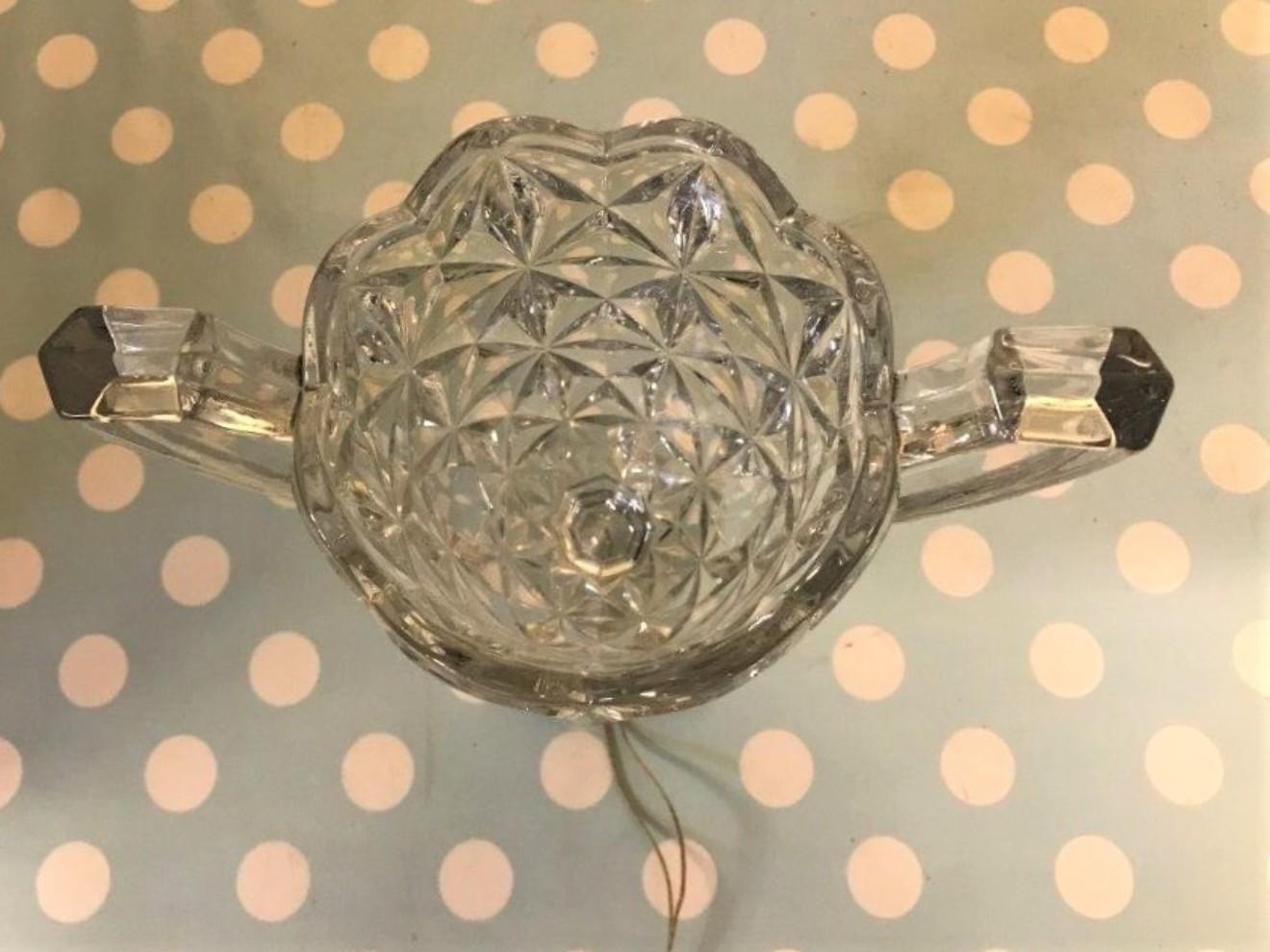 Double Handled Celery Glass Vase
