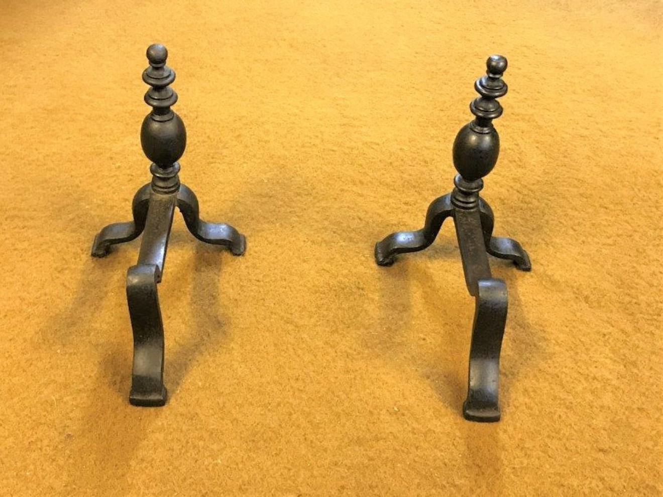 Pair of Iron Fireside Dogs