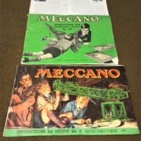 Vintage Meccano Set in Wooden Sectional Box
