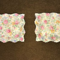 Pair of Chintz Side Dishes