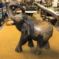 Wooden Elephant Hand Carved