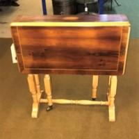 Small Retro Inlaid Gate Leg Table