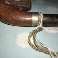 Italian Savinelli Briar Carved Wood Pipe