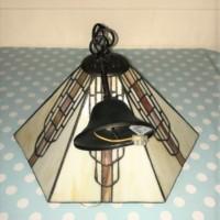 Tiffany Style Hexagonal Ceiling Light Fitting