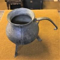 17th Century Bronze Posnet Cooking Pot