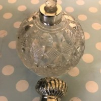 Silver Top Scent Bottle