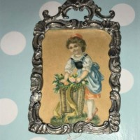 Danish Silver Picture Frame