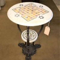 Cast Iron Marble Top Table