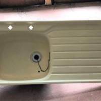 Vintage Cream Enamel Kitchen Sink