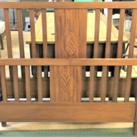 Edwardian Inlaid Mahogany Double Bed Ends