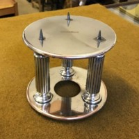 Pair of Round Silver Plated Cake Tier Separators