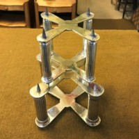 Pair of Cross Shaped Silver Plated Cake Tier Separators
