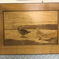 Wooden Marquetry Inlay Wall Hanging