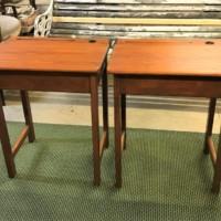 Pair 1950s School Desks