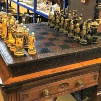 Leather Bound Chess Set