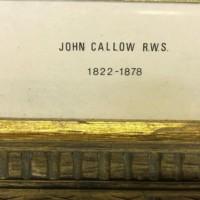 Drawing of Keep/Fort Signed John Callow RWS