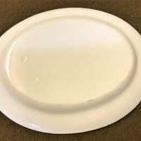 Antique Chinese Grey White Serving Platter