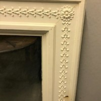 Extra Large Wooden Framed White Mirror