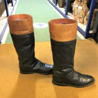 Pair Gents Leather Riding Boots