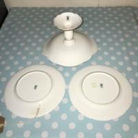 Coalport Tazza  & 2 Plates