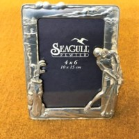 Pewter Golfer Picture Frame