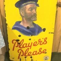 Players Navy Cut Cigarettes Porcelain Enamel Advertising Sign