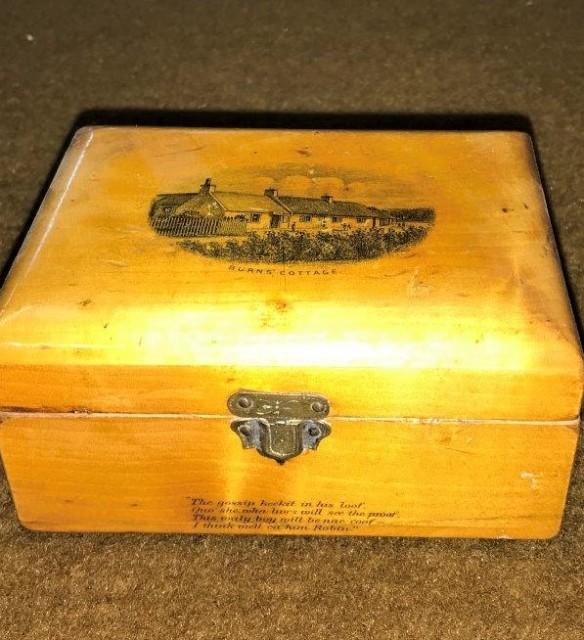 Victorian Mauchline Ware Stamp Box
