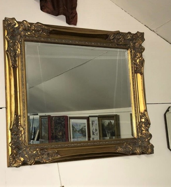 Gilt Frame Overmantle Mirror