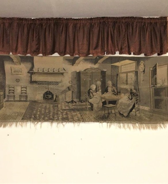 "Dutch Wall Hanging Tapestry ""The Sewing Class"""