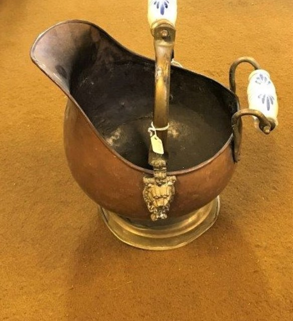 Copper / Brass Coal Scuttle