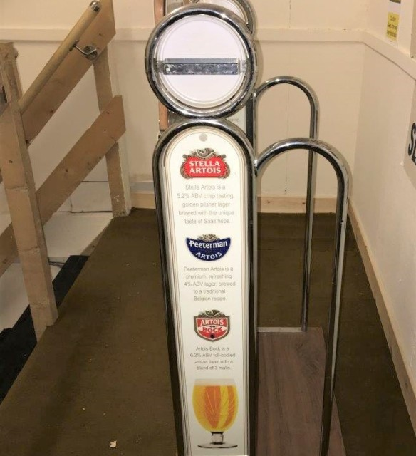 Stella Artois Promotional Advertising Stand